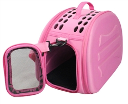Pink Lightweight Transportable Designer Pet Carrier