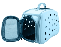 Blue Lightweight Transportable Designer Pet Carrier