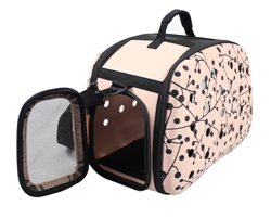 Pink Narrow Lightweight Transportable Designer Pet Carrier