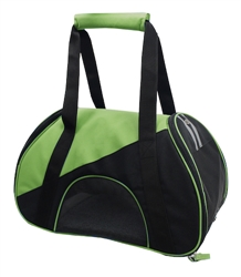 Green Airline Approved Zip-N-Go Contoured Pet Carrier