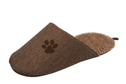 Brown Fashionable Slipper Dog Bed