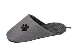 Grey Fashionable Slipper Dog Bed