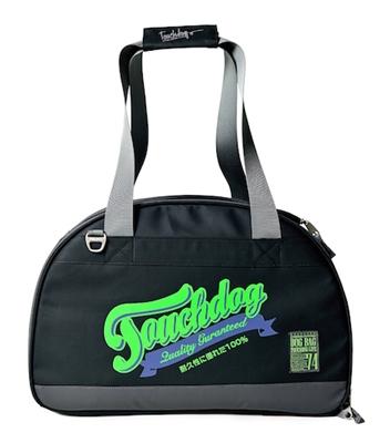 Black Touchdog Original Wick-Guard Water Resistant Fashion Pet Carrier
