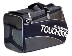 Jet Black Touchdog Modern-Glide Airline Approved Water-Resistant Dog Carrier