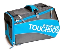 Electric Blue Touchdog Modern-Glide Airline Approved Water-Resistant Dog Carrier