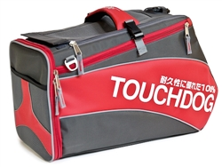 Red Touchdog Modern-Glide Airline Approved Water-Resistant Dog Carrier