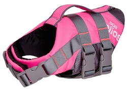 Pink Helios Splash-Explore Outer Performance 3M Reflective And Adjustable Buoyant Dog Harness