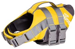 Yellow Helios Splash-Explore Outer Performance 3M Reflective And Adjustable Buoyant Dog Harness