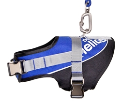Blue Helios Bark-Mudder Easy Tension 3M Reflective Endurance 2-In-1 Adjustable Dog Leash And Harness