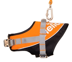 Orange Helios Bark-Mudder Easy Tension 3M Reflective Endurance 2-In-1 Adjustable Dog Leash And Harness
