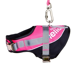 Pink Helios Bark-Mudder Easy Tension 3M Reflective Endurance 2-In-1 Adjustable Dog Leash And Harness