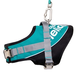 Teal Blue Helios Bark-Mudder Easy Tension 3M Reflective Endurance 2-In-1 Adjustable Dog Leash And Harness