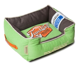 Mint Green Touchdog Original Sporty Vintage Throwback Reversible Plush Rectangular Dog Bed