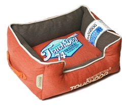 Orange Touchdog Original Sporty Vintage Throwback Reversible Plush Rectangular Dog Bed