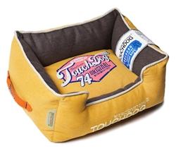 Yellow Lemon Touchdog Original Sporty Vintage Throwback Reversible Plush Rectangular Dog Bed