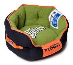 Midnight Blue Touchdog Original Castle-Bark Ultimate Rounded Premium Dog Bed
