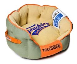 Grey Touchdog Original Castle-Bark Ultimate Rounded Premium Dog Bed