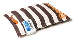 Cocoa Brown Touchdog Polo-Zippered Insertable And Removable Pillow Cushioned Collapsible Travel Dog Bed