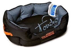 Black Touchdog Performance-Max Sporty Comfort Cushioned Dog Bed