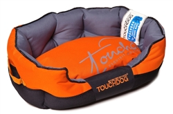 Sunkist Orange Touchdog Performance-Max Sporty Comfort Cushioned Dog Bed