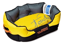 Sporty Yellow Toughdog Performance-Max Sporty Comfort Cushioned Dog Bed