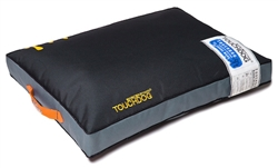 Jet Black Touchdog Surface-Control Reversible Thick Cushioned Travel Sporty Dog Mat