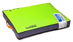 Neon Green Touchdog Surface-Control Reversible Thick Cushioned Travel Sporty Dog Mat