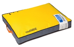 Sun Yellow Touchdog Surface-Control Reversible Thick Cushioned Travel Sporty Dog Mat