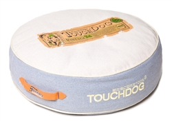Denim Fade Blue Touchdog Original Surround-View Classical Denim-Toned Plush Raised Dog Bed