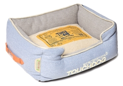Denim Blue Touchdog Original Denim Classical Rectangular And Reversible Dog Bed