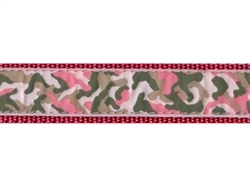 """Pink Camo - 3/4"""" Collars, Leashes and Harnesses"""