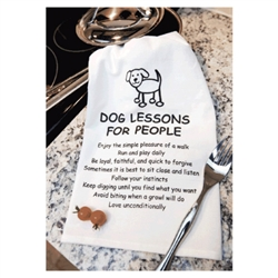 Kitchen Towel - Dog Lessons for People