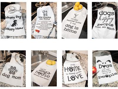 Kitchen Towel Assortment includes 2 each of 8 designs (new image coming soon!)