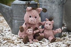 Durable Plush Barnyard Knottie, Pig
