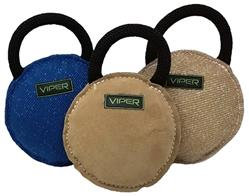 Viper French Linen/Jute/Leather Round Bite Pillow