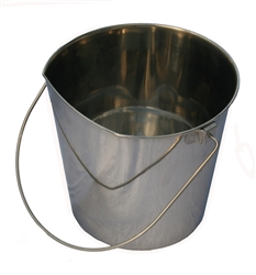 Bergan Stainless Steel Flat-Sided Bucket