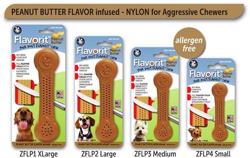 Peanut Butter Bone Flavorit Bone Nylon Chews