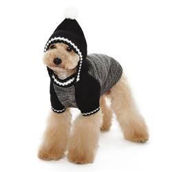 Contrast Hoodie Sweater Black