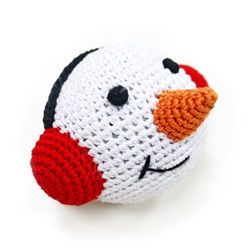 PAWer Squeaky Toy- Snowman Ball