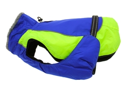 Cobalt Blue & Iridescent Green Solid Alpine All Weather Coat