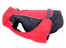 Red & Black Solid Alpine All Weather Coat