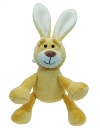 "Simply Fido - Beginnings 4"" Lucy Yellow Bunny w/ Squeaker"