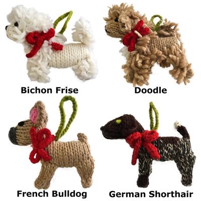 Knit Dog & Cat Tree Ornaments