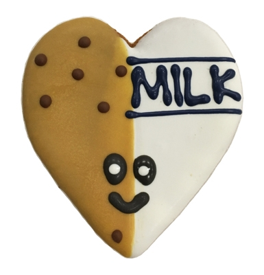 Milk & Cookies Heart