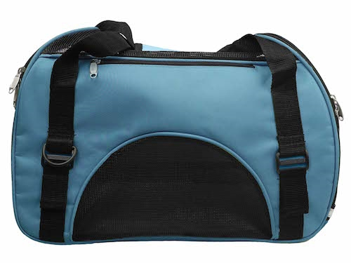 Blue Airline Approved Sporty Zippered Pet Carrier