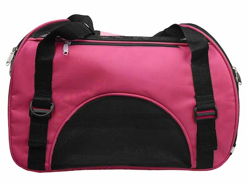 Pink Airline Approved Sporty Zippered Pet Carrier