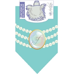 Dog Bandana Pearl Fashion Blue by Dog Fashion Living (2 pack)