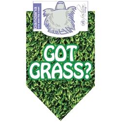 Dog Bandana Got Grass? Green by Dog Fashion Living  (2 PACK)