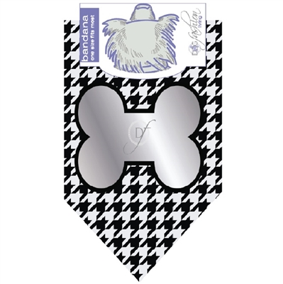 Dog Bandana Silver Bone by Dog Fashion Living (2 PACK)