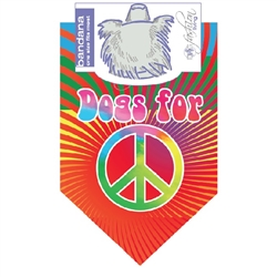 Dog Bandana Dogs For Peace by Dog Fashion Living (2 PACKS)